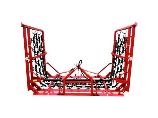 Függesztett hidraulikus láncborona-gyepborona 6 m